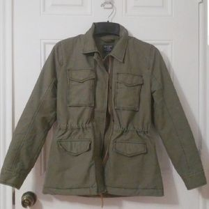 A&F shepherd lined army green jacket
